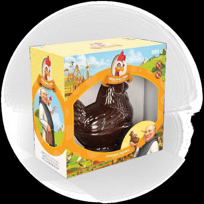 Chocolat Poule dans un panier