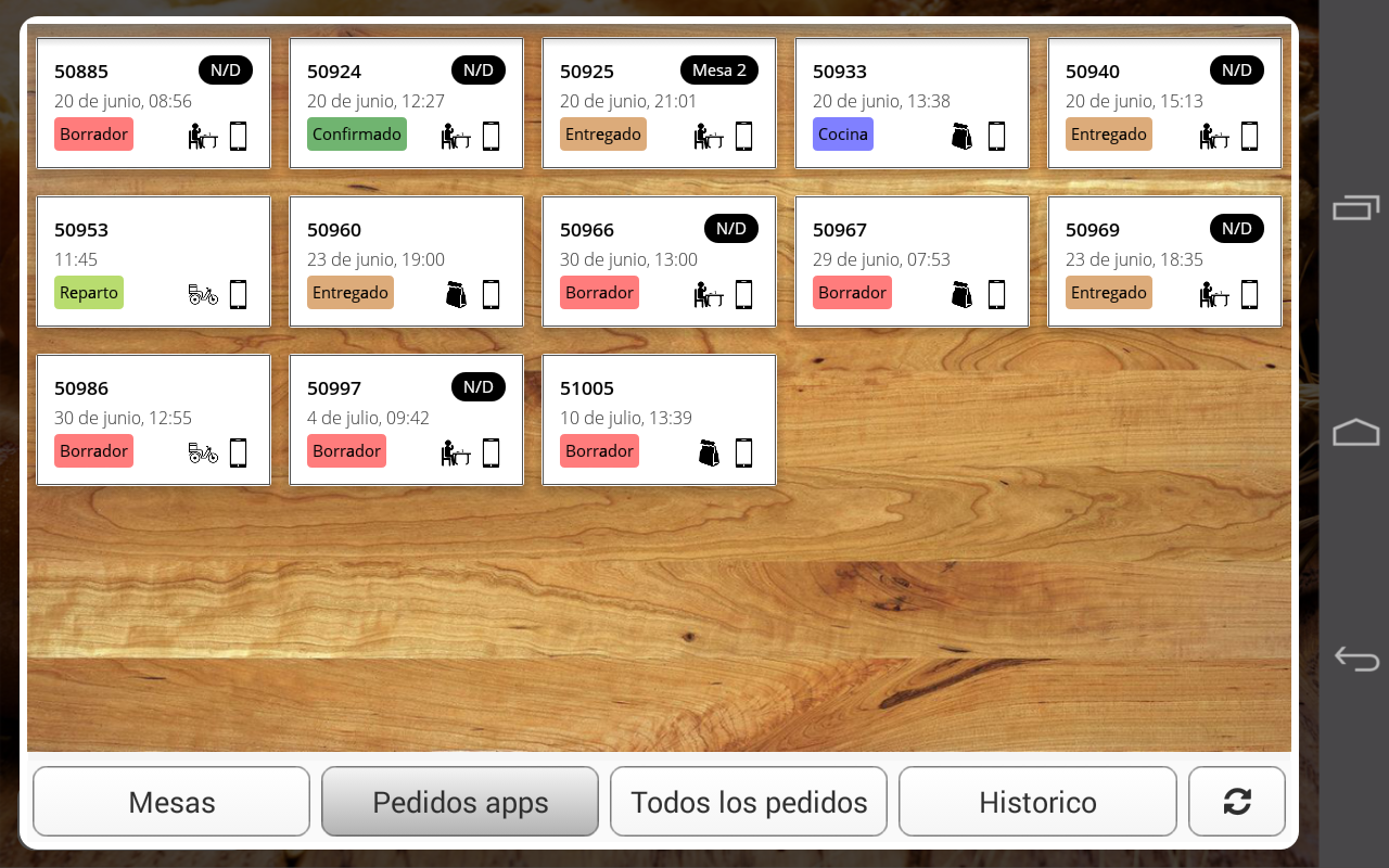EntreCartas, The digital carte- screenshot