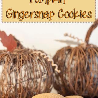 Pumpkin Gingersnap Cookies