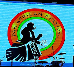 Photo: Panafest logo behind stage
