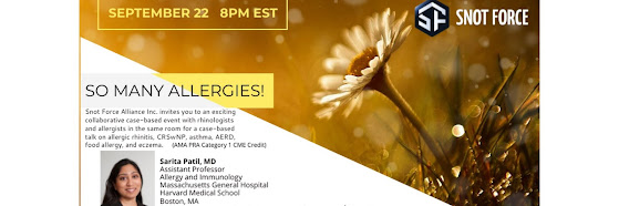 Snot Force Assemble! Webcast Series: So many allergies!