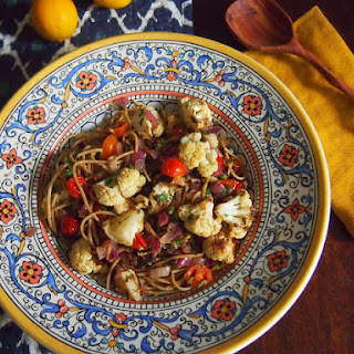 Spaghetti with Roasted Cauliflower and Browned Butter Sauce