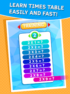 Learn Times Tables Games Free Android Apps On Google Play