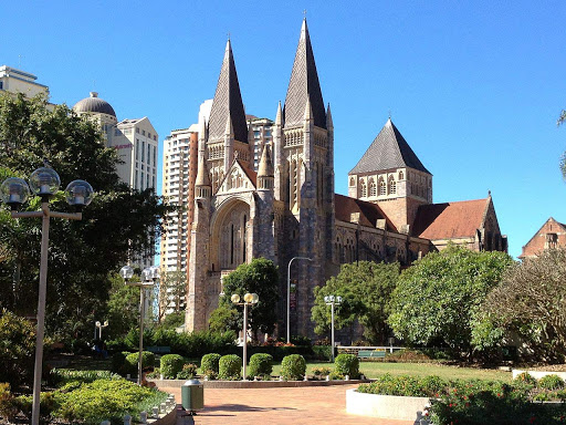 St-John's-Cathedral-Brisbane - Historic St. John's Cathedral in Brisbane, Queensland, Australia.