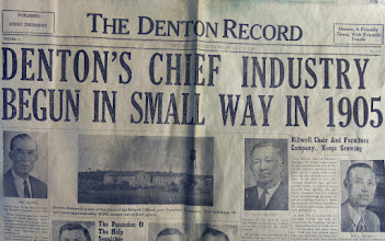 Photo: 1941 July 10th Denton Record in 1941 Time Capsule at Canaan http://CanaanUMC.net