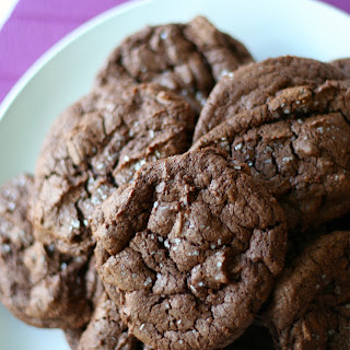 Salted Double Chocolate Cookies.