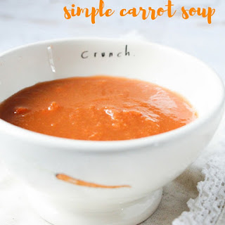 Simple Carrot Soup.