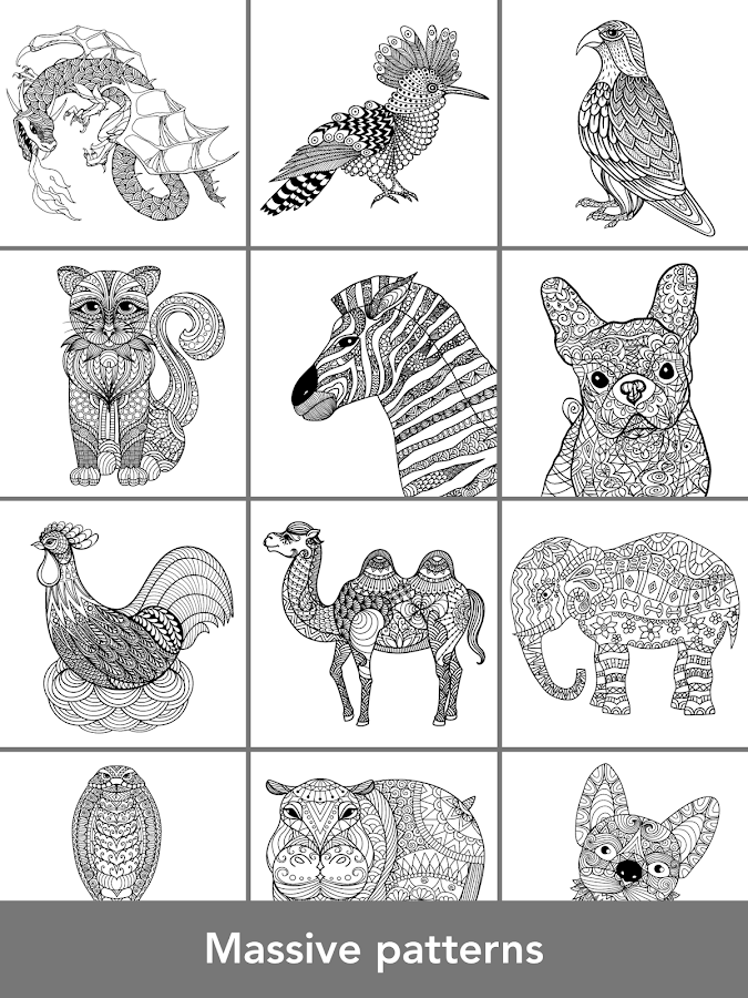 Coloring pages Animals Mandala
