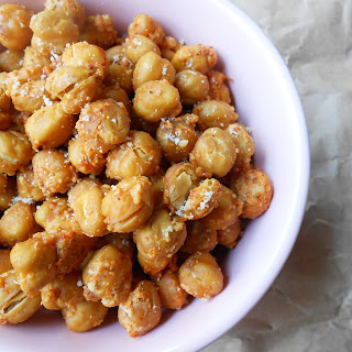 Parmesan Crusted Chickpeas