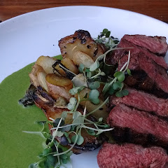 Steak and fingerling potatoes