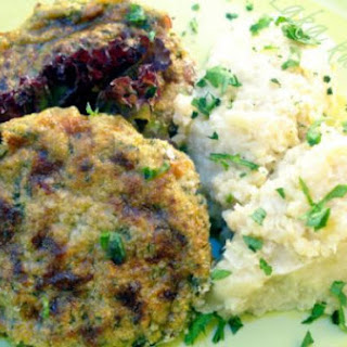 Zucchini Patties With Millet And Cauliflower Mash