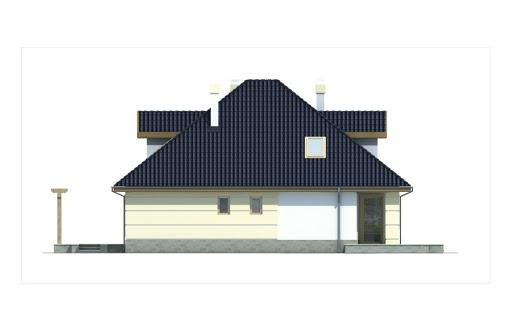 Aksamit wersja A z podwójnym garażem - Elewacja tylna