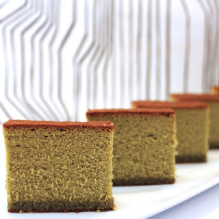 Green Tea Sponge Cake.