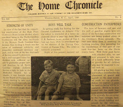 Photo: The Home Chronicle, April 1940 in the 1941 Time Capsule at Canaan, http://CanaanUMC.net