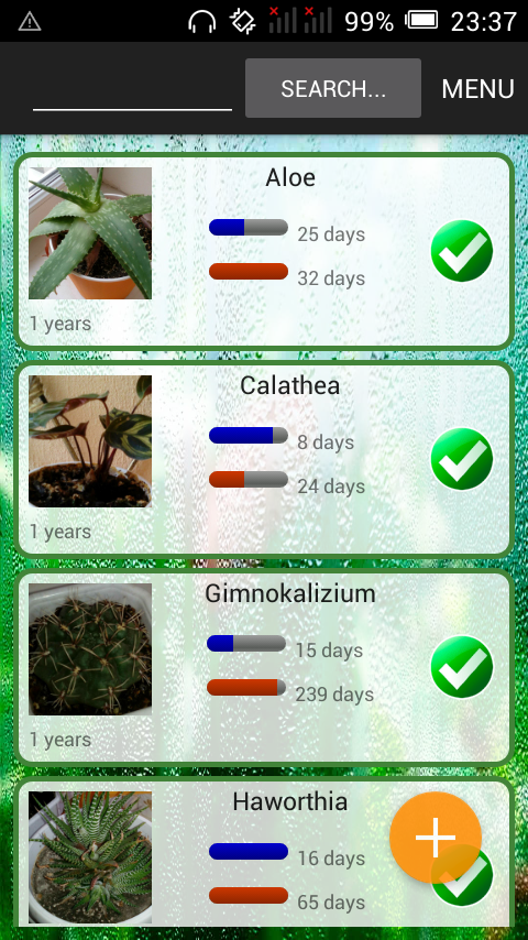 Lucky Plants: watering manager- screenshot