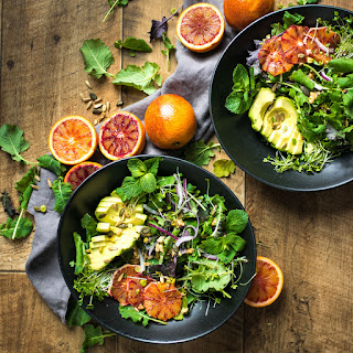 Blood Orange Salad with a Balsamic Vinegar DressingYum Recipe