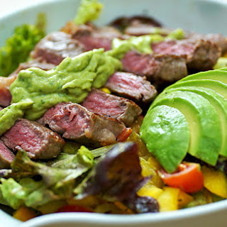 Salad with Steak & Avocado.