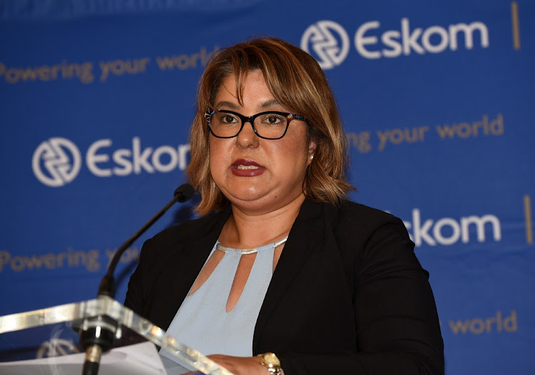 Former Eskom's head of legal and compliance department Suzanne Daniels.