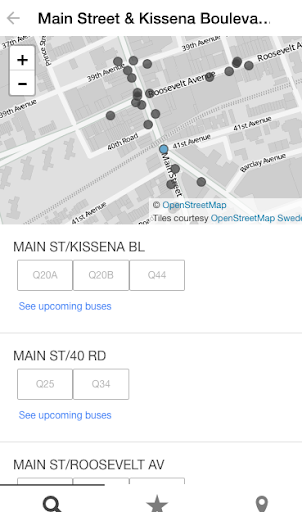 MTA Bus Time Screenshot
