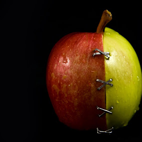 Apple by Tiberiu Stefan  Simion - Food & Drink Fruits & Vegetables ( red, green, apple )