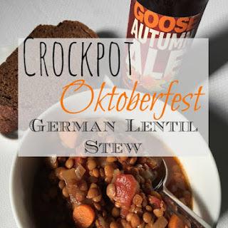 Slow-cooker Oktoberfest German Lentil Stew.