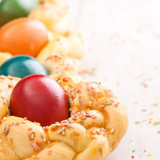 Italian Easter Bread With Candied Fruit And Almonds