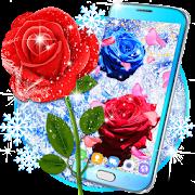 Frozen snow rose live wallpaper