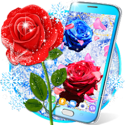 Frozen snow rose live wallpaper