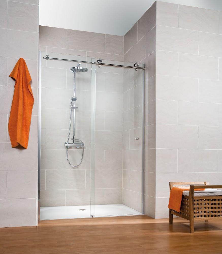 Porte de douche coulissante en niche de haute qualit - Portes de douche coulissantes ...