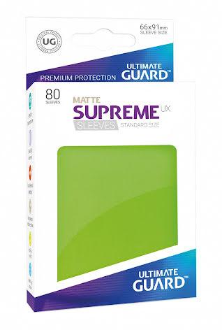 Ultimate Guard - Ljusgröna Matta plastfickor 80st