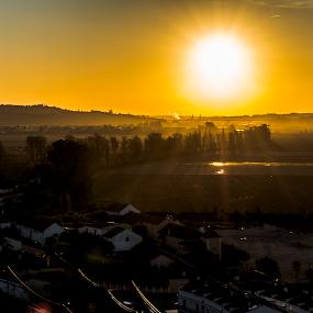 MonteMor o Velho by Edu Marques - Landscapes Sunsets & Sunrises ( sun set, sun rise, sunflowers, sunflower, landscape, sunlight, photography, sun, sun rays, photooftheday, village, sunset, sunny, sundown, sun light, sunshine, sunrise, landscapes,  )