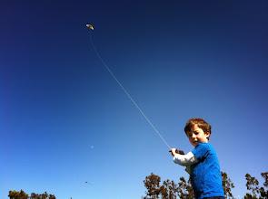 Photo: Clark Flys a Kite