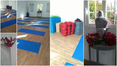 Photo: yoga studio and equipment
