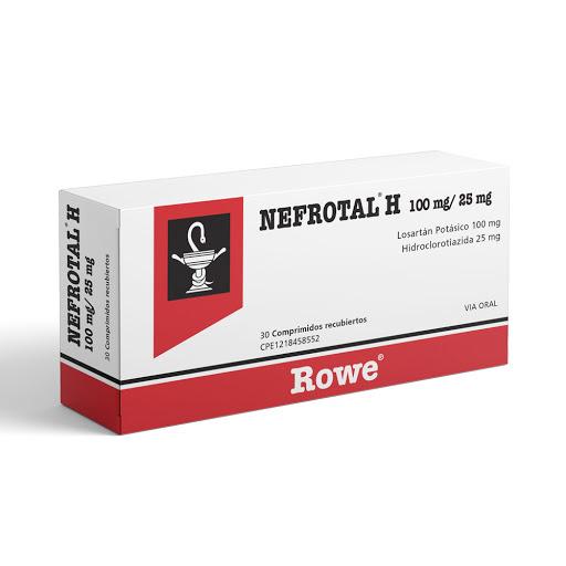 Losartan Potasico Nefrotal H 100/25mg x 30 Comprimidos