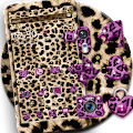 Pink Gold leopard Print Theme download