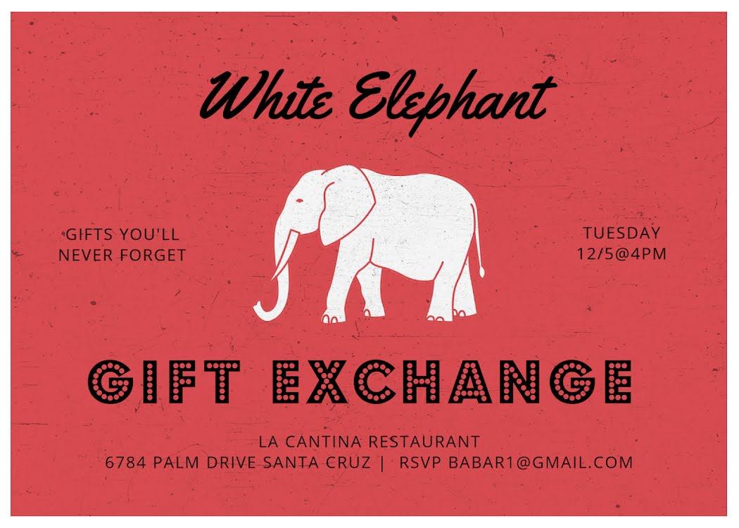 Gift Exchange - Christmas Card Template