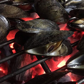 Grilled Mussels with Garlic Herb Butter.