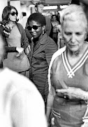 Sikhakhane-Rankin Seen here at the then Jan Smuts Airport on her way to on route to appear as a defence witness at a political the terrorism trial in 1971.