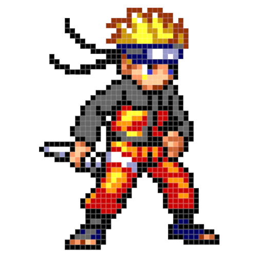 Download Color By Number Naruto Sandbox Ninja Pixel 1 6 Apk For Android Appvn Android