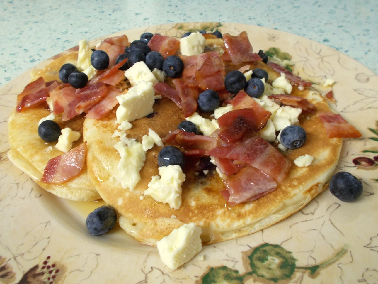 Bacon blueberry & Cheshire pancakes 1.jpg