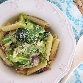 Courgette and Mushroom Carbonara.