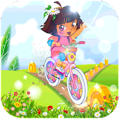 Princess Dora Biker Girl Hill Ride