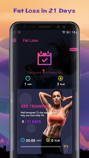 Fat Loss in 21 Days - calorie burning exercise screenshot 1