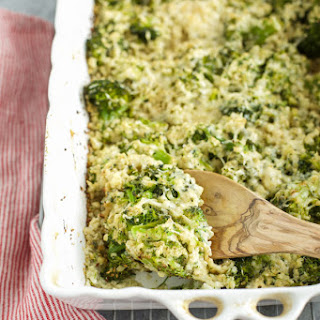 Cauliflower Broccoli Alfredo Bake Recipe