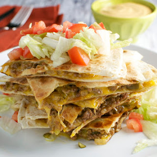 Cheeseburger Quesadillas.