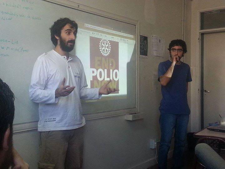 Presentación del proyecto el año pasado frente a otros desarrolladores locales