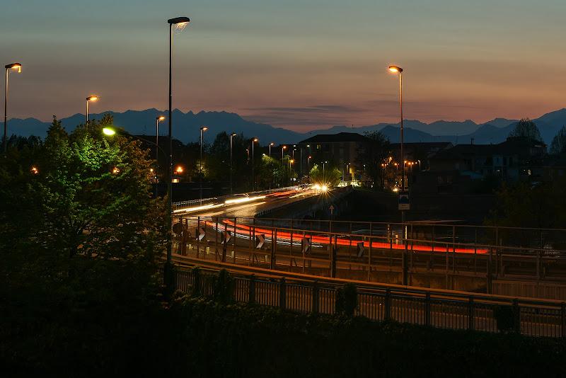 Scie di luce al tramonto di s3V