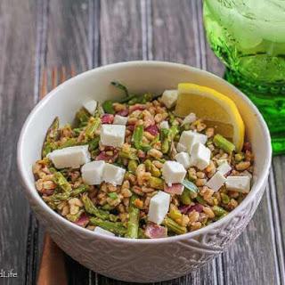 Lemony Toasted Farro and Asparagus Salad Recipe