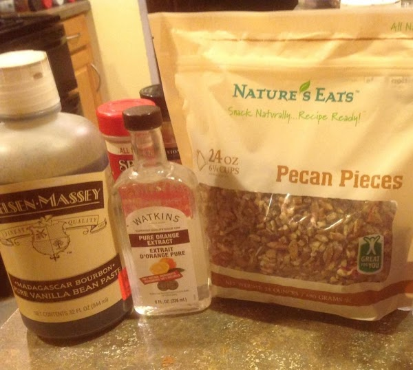 Additional extract  ingredients & nuts used for the cake. I also used Buttermilk...