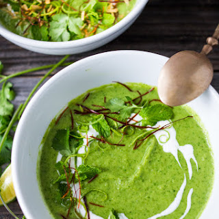 Thai Broccoli Soup with Coconut.